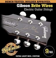Corde Gibson Brites Wires SEG-700ULMC ultra light Medium Custom 9-46
