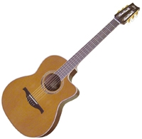 Guitare classique Lag Autumn Country Nylon Cutaway AC/EL LA 314NCE