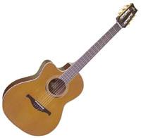 Guitare classique Lag Autumn Country Nylon Cutaway AC/EL LA 314NCE L