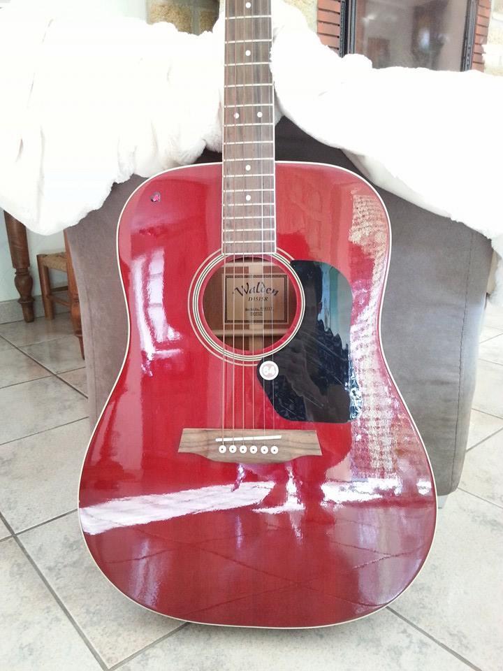 vend guitare acoustique d351sr walden standard folk rouge. Black Bedroom Furniture Sets. Home Design Ideas
