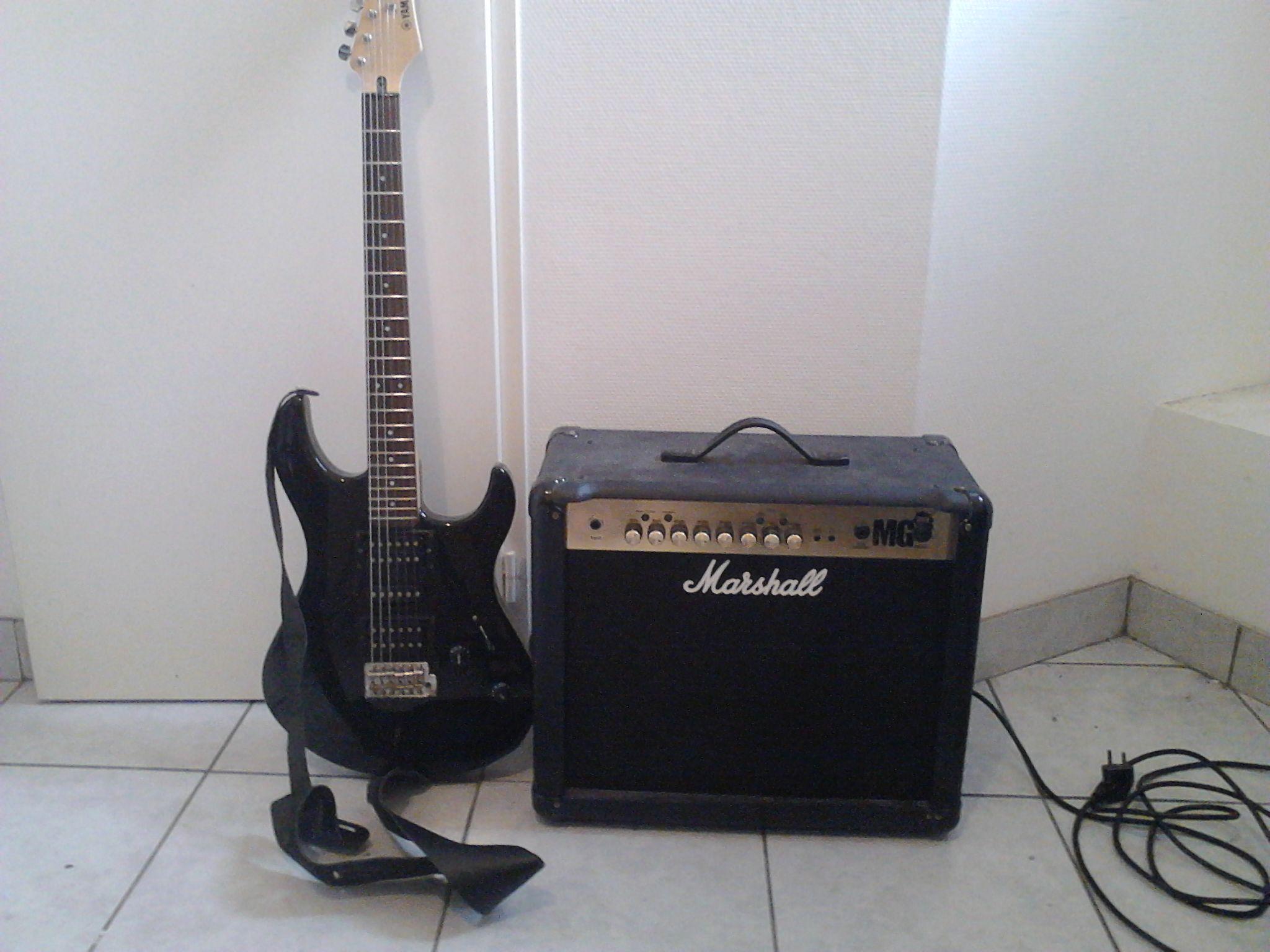 guitare yamaha erg 121 ampli marshall petite annonce. Black Bedroom Furniture Sets. Home Design Ideas