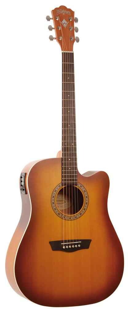 achat guitare electro acoustique washburn comparer les. Black Bedroom Furniture Sets. Home Design Ideas