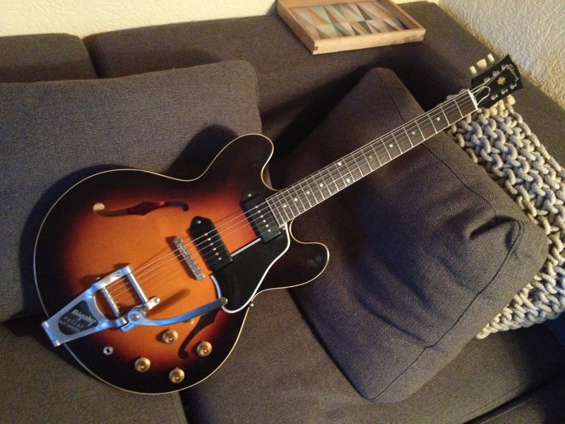vends gibson es 335 luther dickinson vos annonce guitare. Black Bedroom Furniture Sets. Home Design Ideas