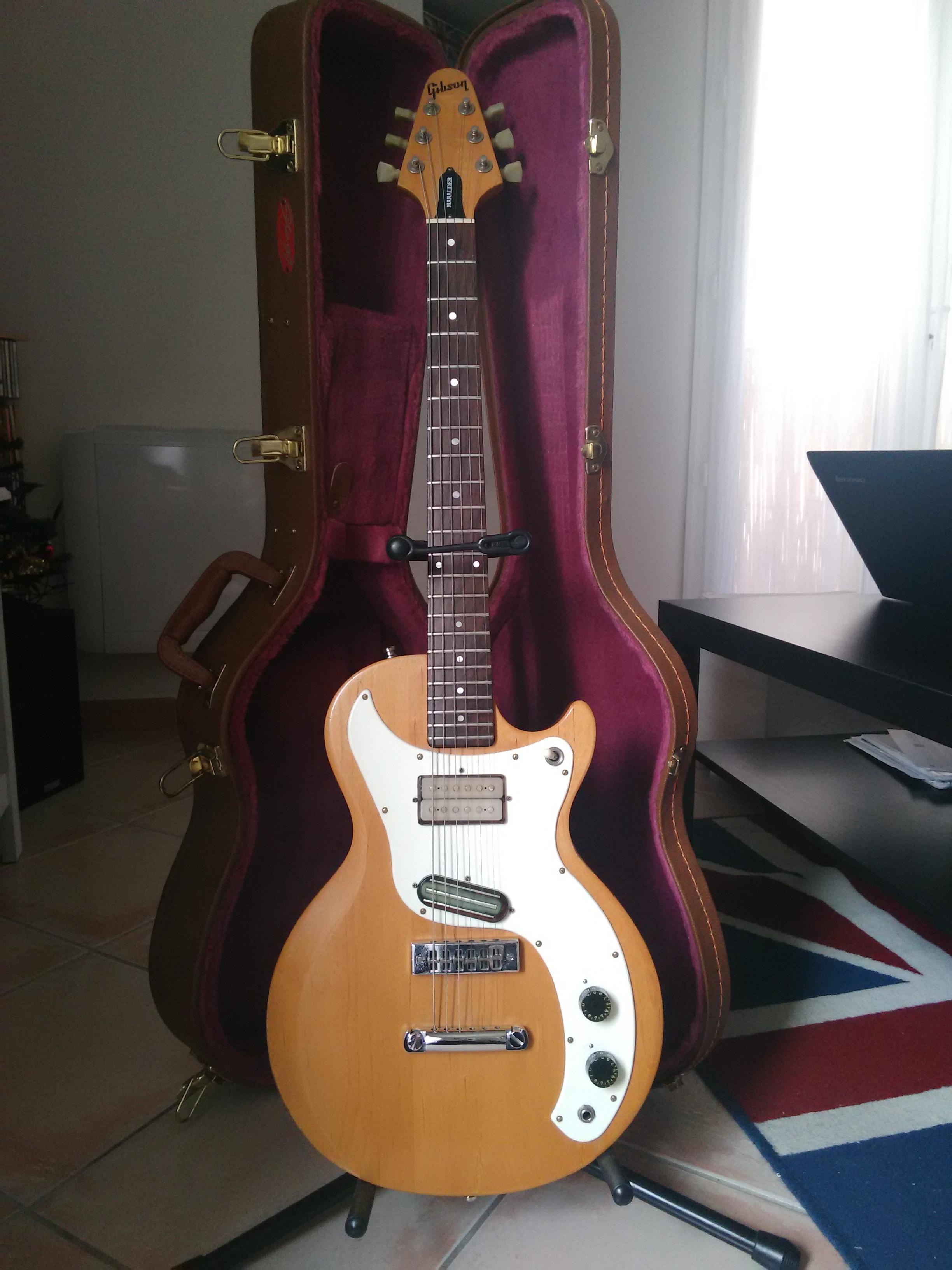 vends gibson marauder natural satin 1975 annonce guitare. Black Bedroom Furniture Sets. Home Design Ideas