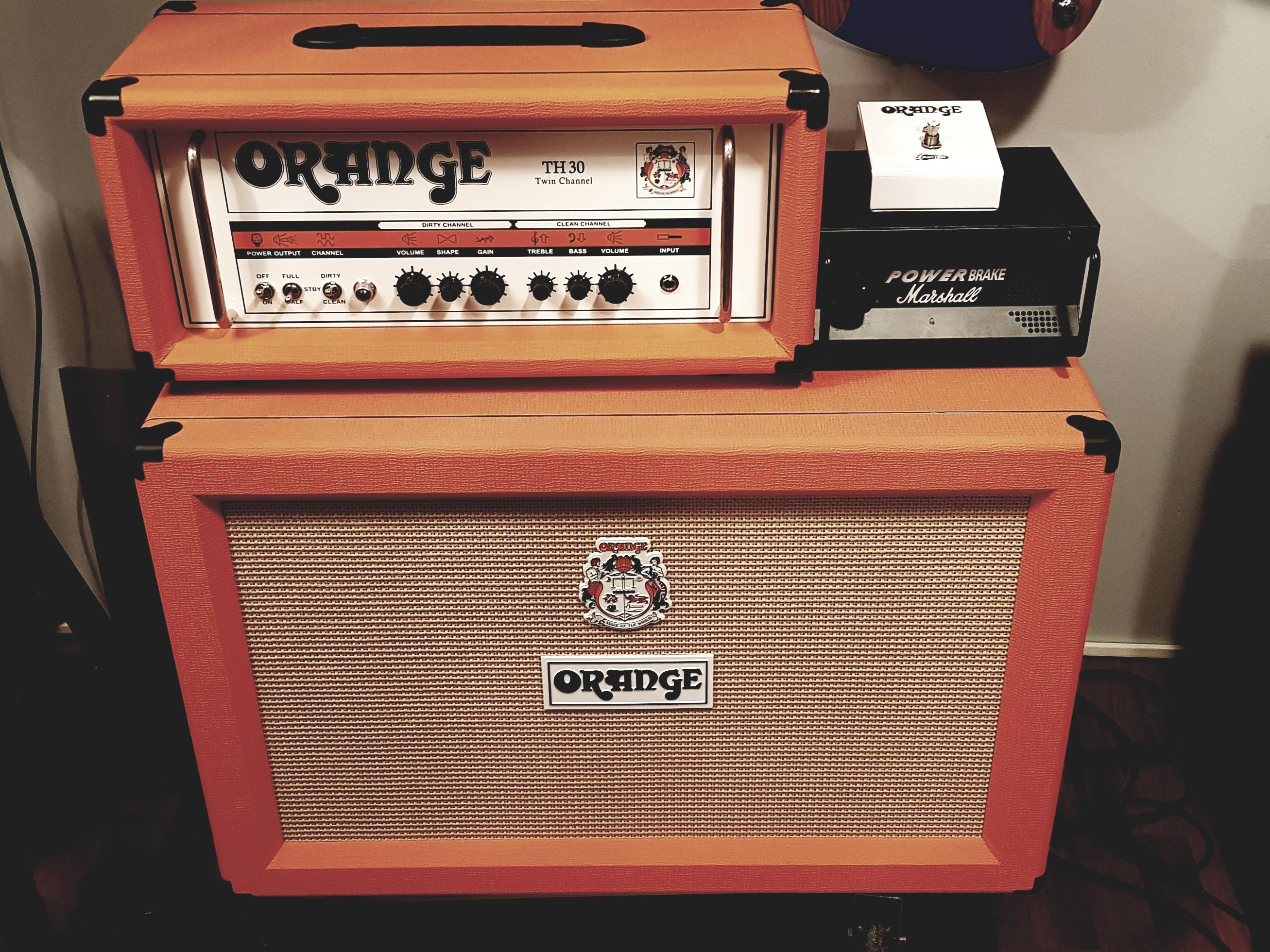 ampli lampes orange th30 complet annonce ampli orange. Black Bedroom Furniture Sets. Home Design Ideas