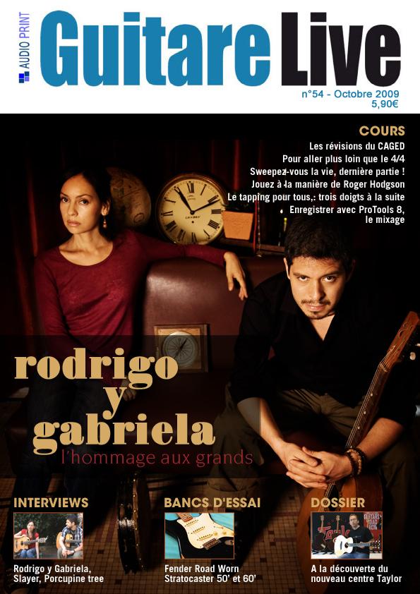 Rodrigo Y Gabriela en couverture de Guitare Live