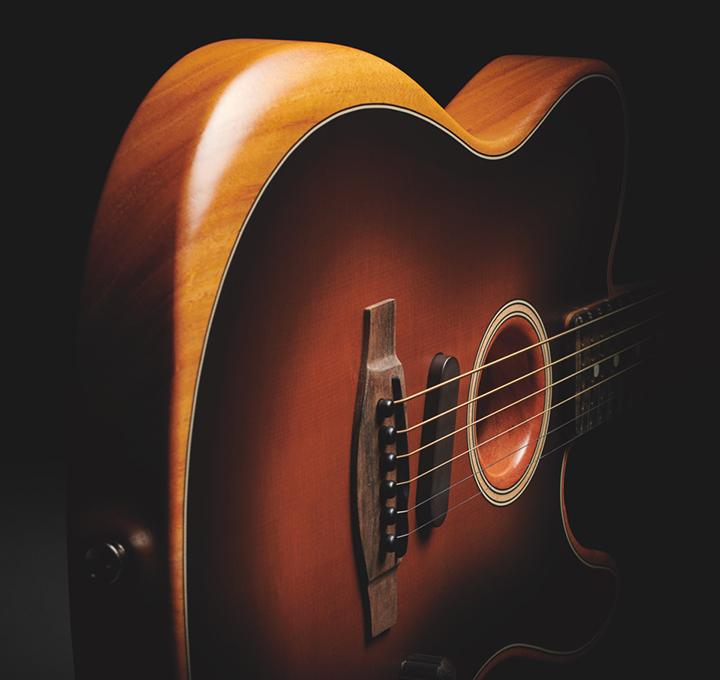 m lange innovant de guitare acoustique et lectrique chez fender. Black Bedroom Furniture Sets. Home Design Ideas