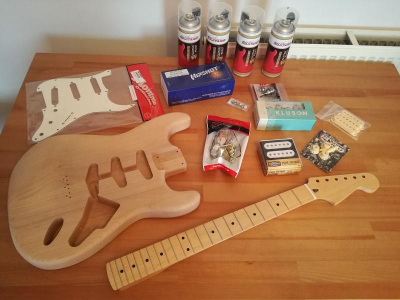 mon premier projet partcaster guitare. Black Bedroom Furniture Sets. Home Design Ideas